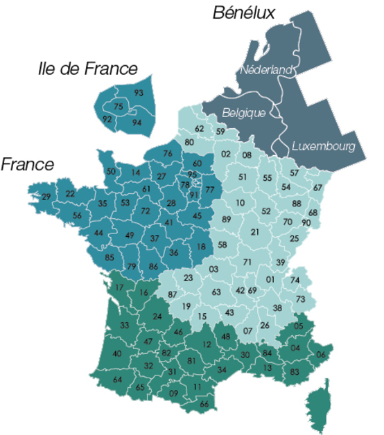 Contacts Carte De France Europole