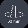 Picto Diametre Encastrement 68mm
