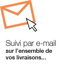 livraisons suivi par mail