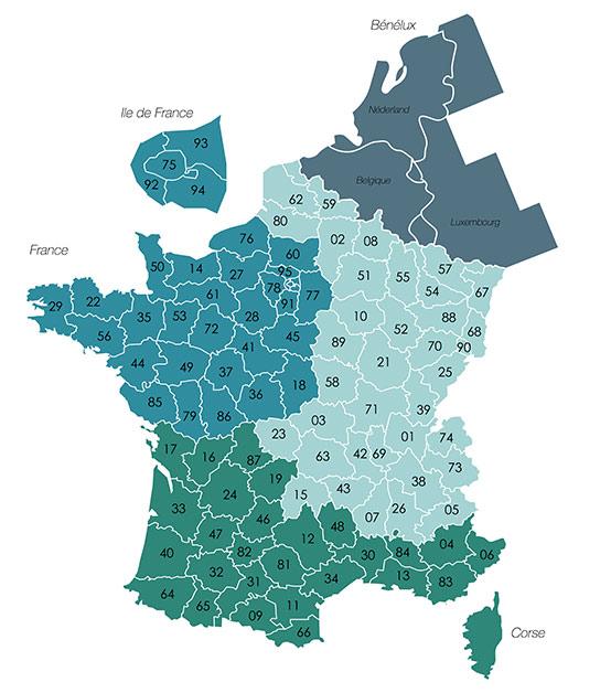 Contacts Carte De France Europole 2020